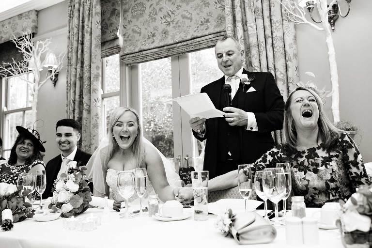 A very happy wedding speech